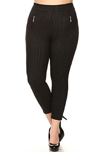 82f25432cc7b9 JVINI Women s High Waist Stretch Skinny Denim Jeggings With Pockets reg-Plus  Size. Jeans ...