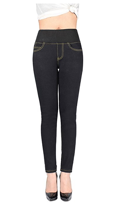 5e591494fbba3 Peacoco Winter Slim Fit Fleece Lined Skinny Stretch Tight Jeans High Waist  Thick Denim Jeans Pants For Women
