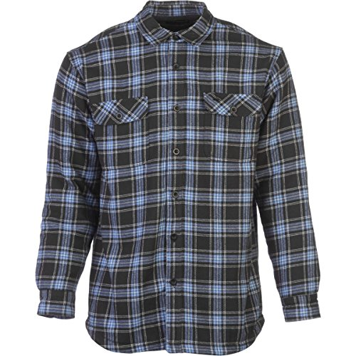 Nanquan Men Long Sleeve Fleece Print Thick Fall-Winter Boyfriend Button up Shirts