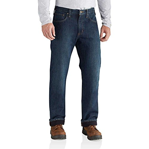 Carhartt Men's M Relaxed Fit Holter Jean Fleece Lined ...
